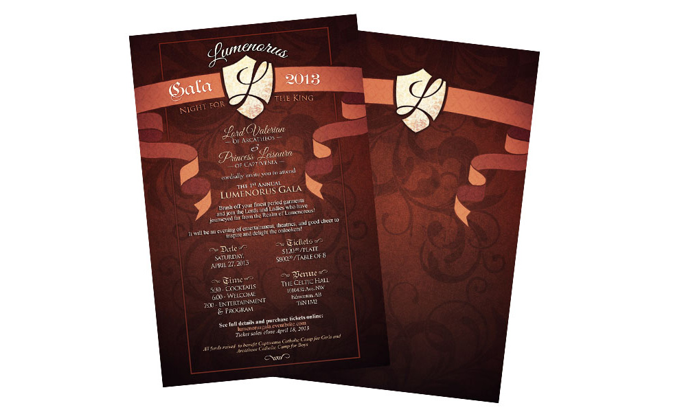 Captivenia Gala Invitations