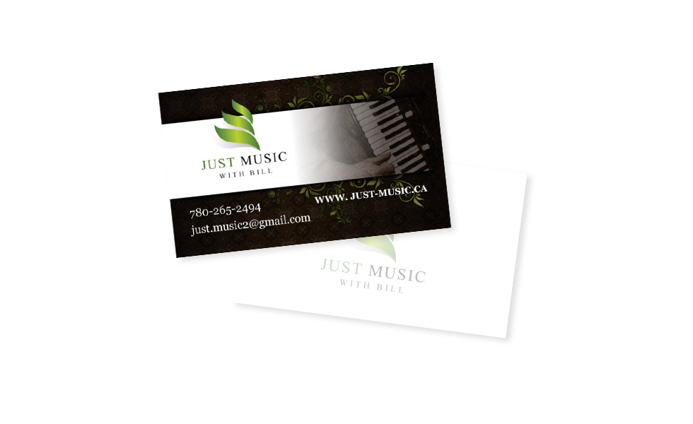 Just Music Business Cards
